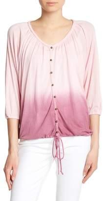 Seven7 Ombre Dolman Sleeve Button Down Shirt
