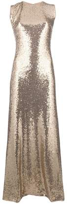 P.A.R.O.S.H. sequin flared maxi dress