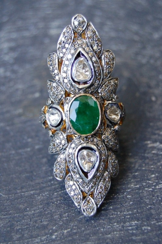 Rona Pfeiffer Emerald And Diamond Ring