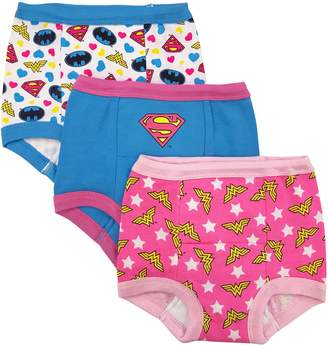 Justice DC Comics Toddler Girls' League 3 Pack Training Pant