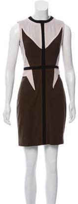 Givenchy Wool Mini Dress Olive Wool Mini Dress