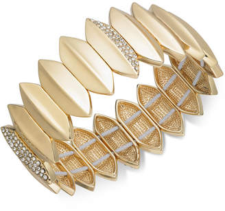 INC International Concepts I.n.c. Gold-Tone Pave Leaf Stretch Bracelet, Created for Macy's