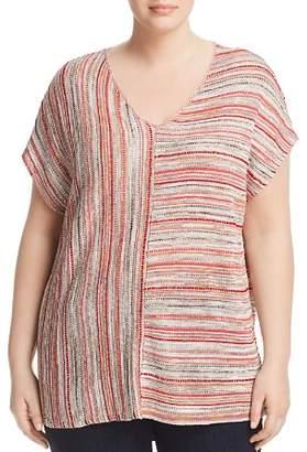 Nic+Zoe Plus Plus Arizona Multi-Stripe Knit Top