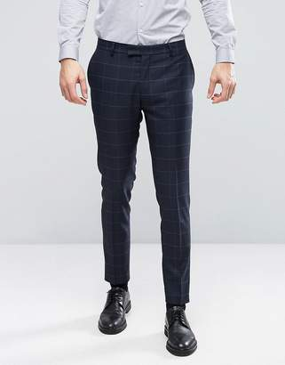 Jack and Jones Slim Suit Pant with Check