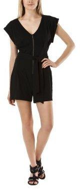 Mossimo® Women's Zip Front Romper - Black