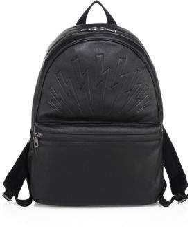 Neil Barrett Thunderbolt Leather Rucksack