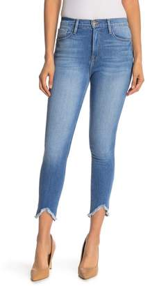 7cb2cdccd4 Frame Ali High Rise Frayed Hem Skinny Jeans