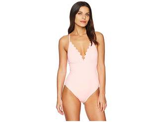 LaBlanca La Blanca Petal Pusher Halter One-Piece Women's Swimsuits One Piece