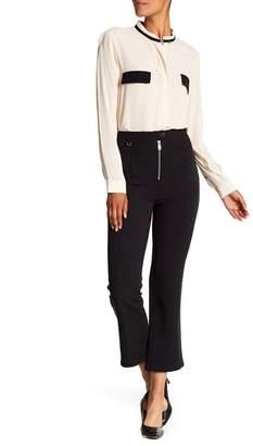 Cinq à Sept Harlow Zip Flare Cropped Pants