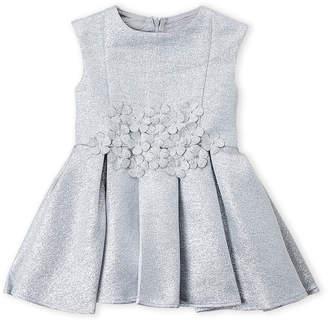 Halabaloo Toddler Girls) Shimmer Floral Tank Dress