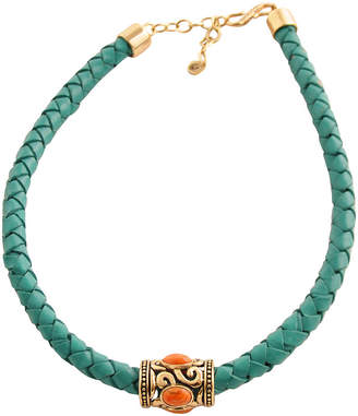 Artsmith BY BARSE Art Smith by BARSE Coral & Aqua Leather Necklace