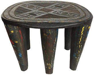 One Kings Lane Vintage Large Colorful Nupe Stool Nigeria