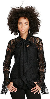 Ralph Lauren Denim & Supply Lace Necktie Blouse $145 thestylecure.com