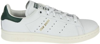adidas Classic White And Green Superstar Trainer