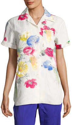 Celine Floral Notch Shirt
