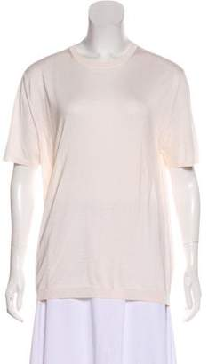 Prada Short-Sleeve Knit Top