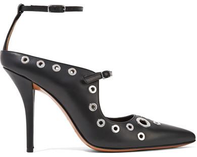 Givenchy - Eyelet-embellished Leather Pumps - Black