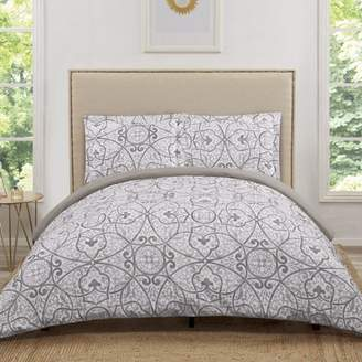 Truly Soft Marcello Grey Twin Extra Long Duvet Set