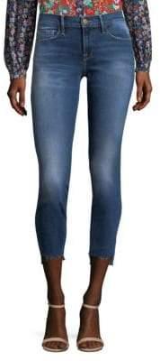 Frame Raw Stagger Hem Jeans