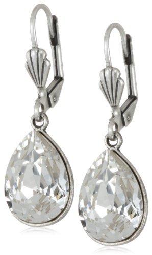 Swarovski Anne Koplik Jewelry Large Crystal Teardrop Earrings