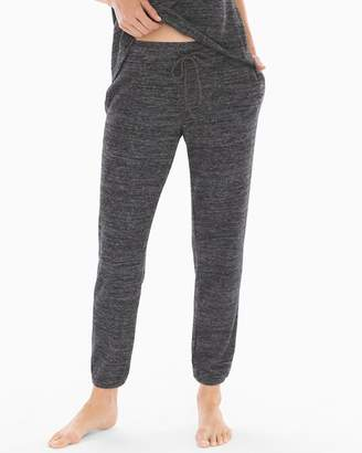 Cozy Nights Banded Ankle Pajama Pant Heather Black