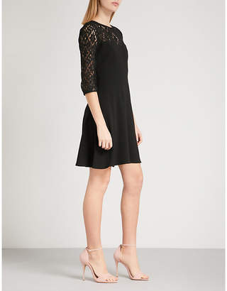 Claudie Pierlot Rimabelle lace-panel crepe dress