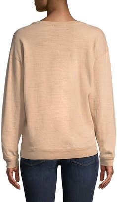 James Perse Vintage Graphic Print Cotton Sweatshirt