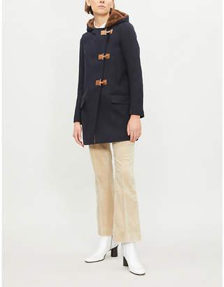 Sandro Hooded wool coat