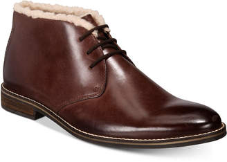 Alfani Men's Jason Fleece-Lined Leather Boots, Created for Macy's Men's Shoes