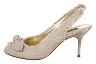 Dolce & Gabbana Peep-Toe Slingback Pumps