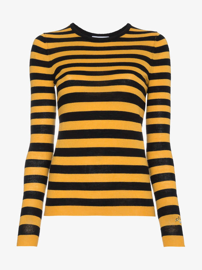 striped wool cashmere-blend sweater