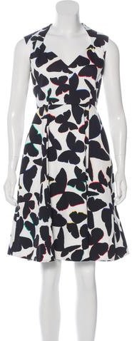 Kate Spade Kate Spade New York Butterfly Print A-Line Dress