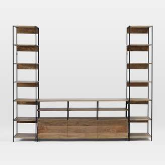 west elm Industrial Modular Large Media Set With Bookshelves