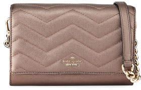 Kate Spade Reese Park Wyn Caviar-Embossed Leather Crossbody Bag