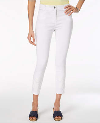 Style&Co. Style & Co Embroidered Skinny Ankle Pants, Created for Macy's
