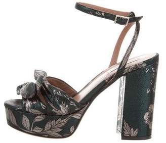 Tabitha Simmons Metallic Platform Sandals