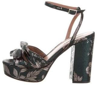 Tabitha Simmons Metallic Platform Sandals