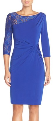 Women's Ellen Tracy Lace Sleeve Jersey Sheath Dress $118 thestylecure.com