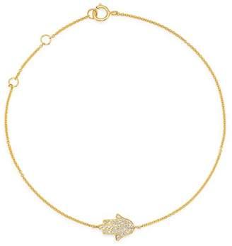 Moon & Meadow Diamond Hamsa Adjustable Bracelet in 14K Yellow Gold - 100% Exclusive