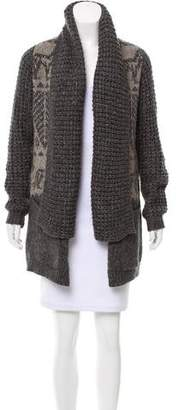 Line Heavy Open Front Cardigan