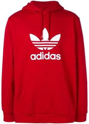 adidas contrast logo hoodie