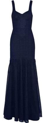 Rebecca Vallance Avignon Tie-Back Lace Gown