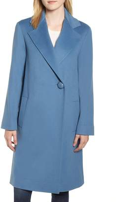 Fleurette One-Button Loro Piana Wool Coat