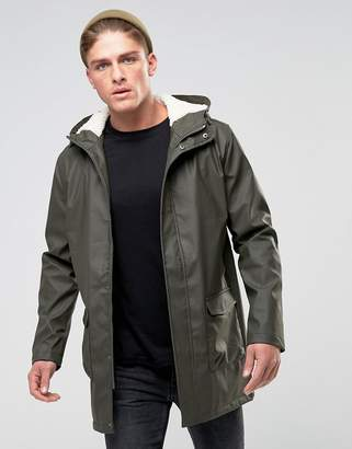 French Connection Shine Fishtail Hooded Trench with Fleece Lining