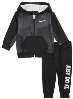 Nike Block Taping Tricot Dri-FIT Hoodie & Sweatpants Set