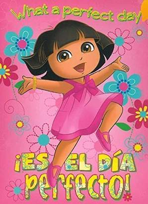 Dora the Explorer El Dia Perfecto 40x50 Mink Style Blanket in Gift Box by