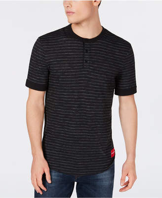 Calvin Klein Jeans Men's Jacquard Striped Henley