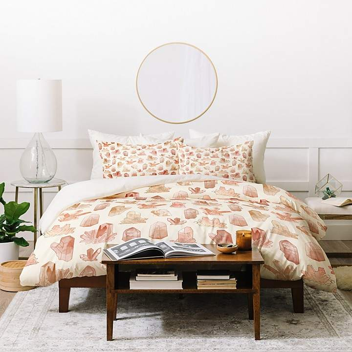 Dash and Ash Those Gems Though in Sunrise Duvet Cover Set, King