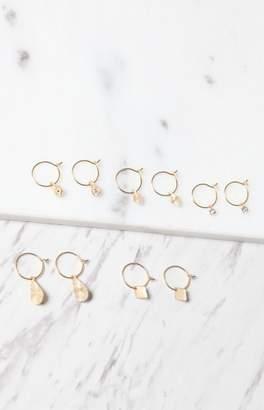 LA Hearts Small Multi Hoop Earring Pack
