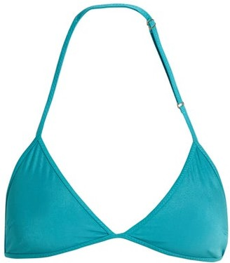 Bower - Bang Triangle Bikini Top - Womens - Turquoise